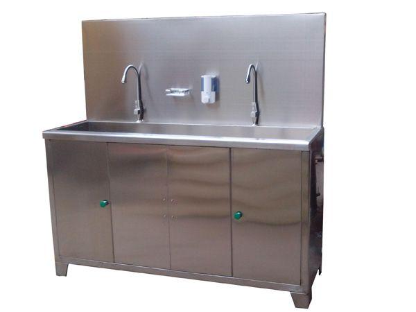 G41不锈钢感应三人洗手池